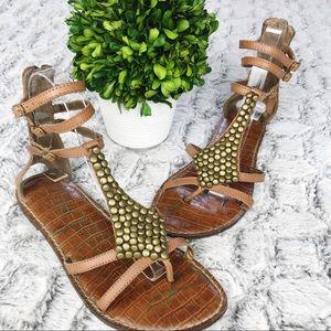 Sam Edelman Ginger Embellished Gladiator Sandals 7